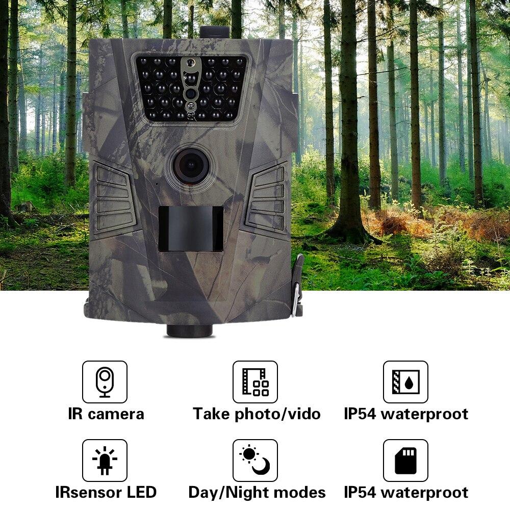 2018 nuevo HT-001 caza Trail Cámara P 720 p HD 850nm vida salvaje visión nocturna para animales trampas de fotos caza Cámara