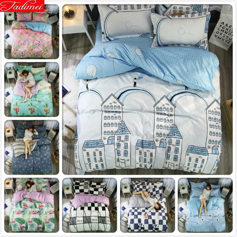 Blue Sweet Night 3/4 pcs Bedding Sets Adult Kids Child Soft Skin Bed Linens Single Full Double Queen Super King Size Duvet CoverBlue Sweet Night 3/4 pcs Bedding Sets Adult Kids Child Soft Skin Bed Linens Single Full Double Queen Super King Size Duvet Cover
