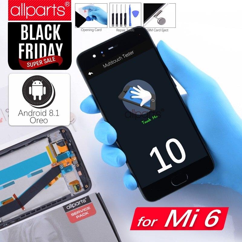 5.15 Оригинальный тачскрин дисплей экран для XIAOMI Mi6 сенсорный дисплей Оригинал LCD с тачскрином в рамке замена запчасти для XIAOMI Mi6 Mi 6 Черный бел...