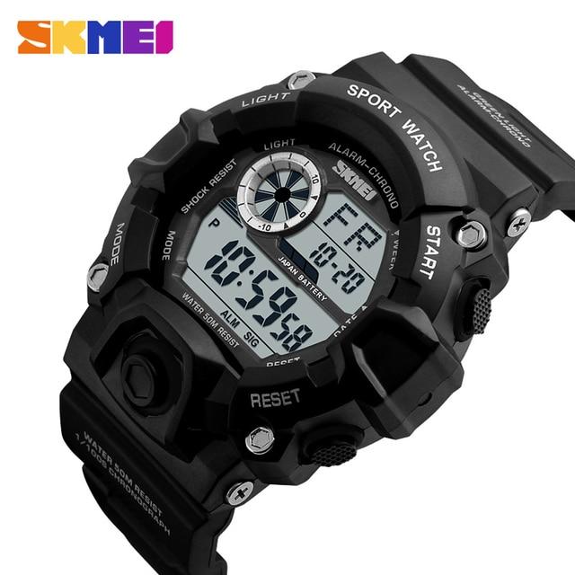 SKMEI Sportwatch Digital 50M Waterproof Men Watch Military Sports Watches Man Outdoor Casual Wristwatch Alarm Masculino Relogio