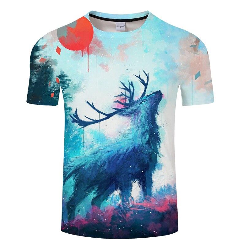 Cielo estrellado 3D Camisetas hombres mujeres Camisetas Tops verano ... 99c3734149a