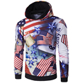 New Arrival Men Hoodies Long Sleeve with Hood Male 3D Print USA Flag Pullover High Quality Hoodies men Autumn Wear Clothing