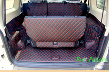 High quality & Free shipping! Special trunk mats for Mitsubishi Pajero 7seats 2016 waterproof boot carpets for Pajero 2015-2007