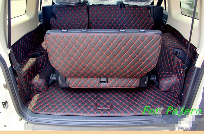 Jó minőség! Speciális csomagtér szőnyegek a Mitsubishi Pajero - Autó belső kiegészítők