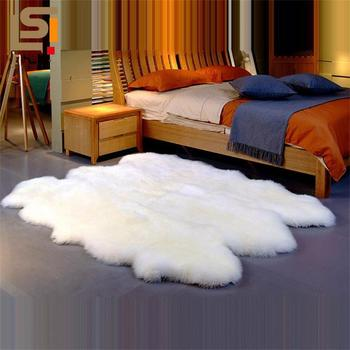 Large Wool Fur Rug Thick Carpets For Living Room Home Decor Shaggy Bedroom Carpet Cloakroom Fluffy Rug Kids Room White Floor Mat