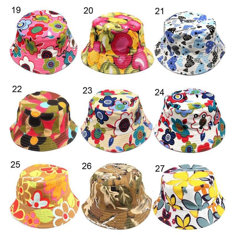 f57da45b151 2016 New 30 colors Children flower bucket hat temperament leisure sunny child  sun hat for 2-6 years old kids