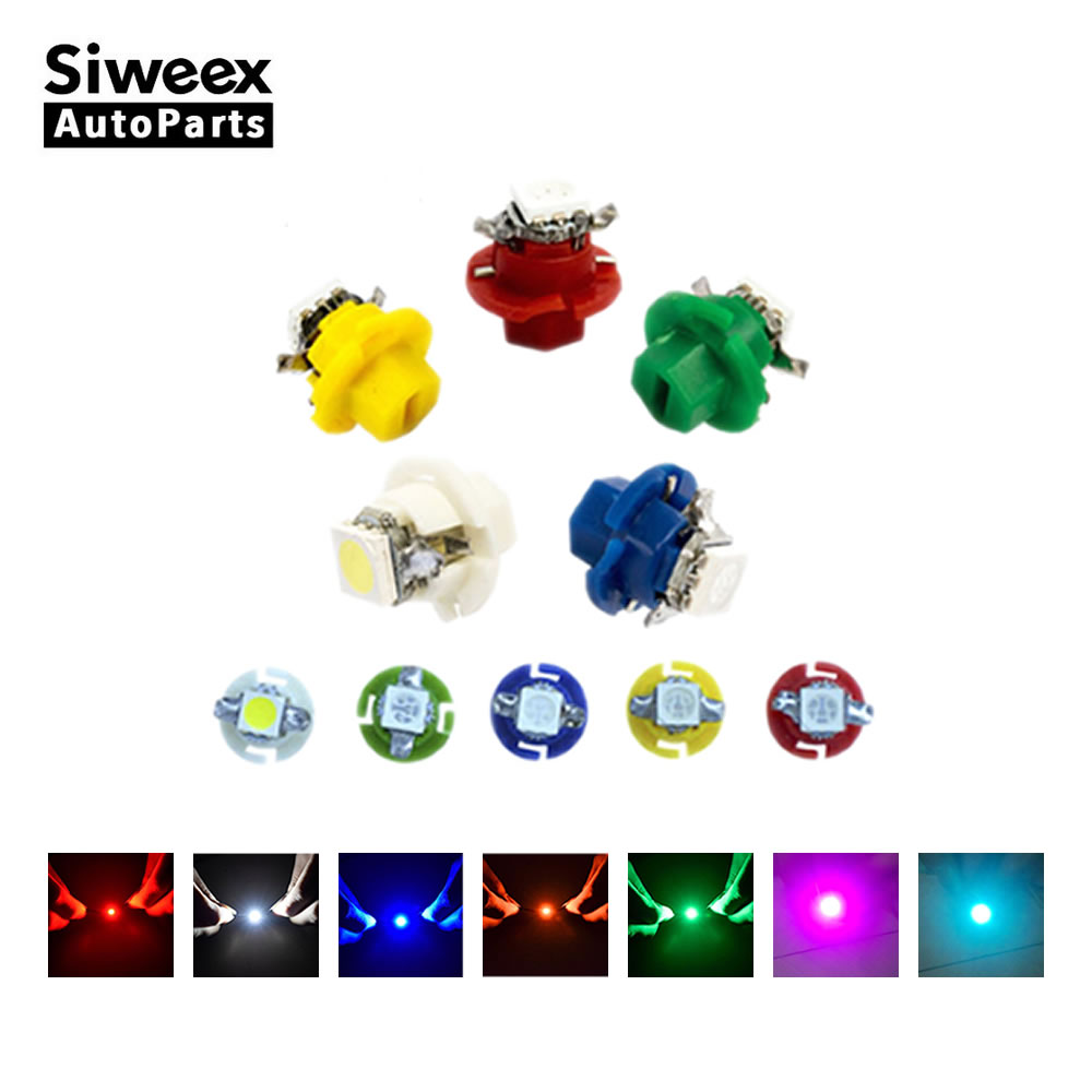 10 Pcs/Lot B8.4 B8.4D T5 High Quality 5050 1 SMD LED Instrument Panel Lights Wedge Car Dashboard Bulbs 7 Colors DC 12V цена