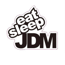 лучшая цена 7*6.5CM EAT SLEEP JDM Funny Humor Car Sticker Decal Motorcycle Car Styling Black #B1374