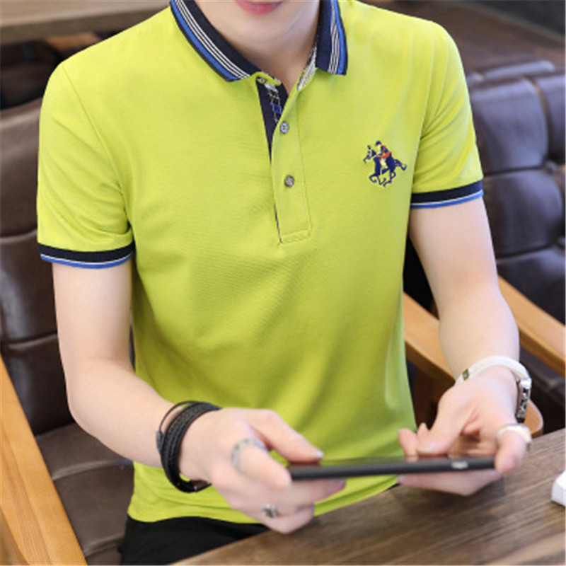 Men Polo Shirts 2018 New Summer Fashion Half Sleeve Embroidery Horse Breathable Camisa Masculina Cotton Polo Mens Plus Size 4XL 1
