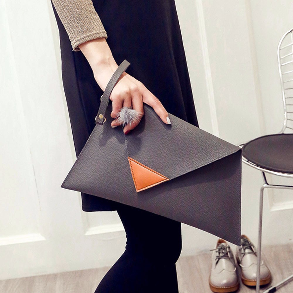 flama Women Leather Handbag Clutch Evening Bag Simple Retro Envelope Package Free Shipping Miya Lin