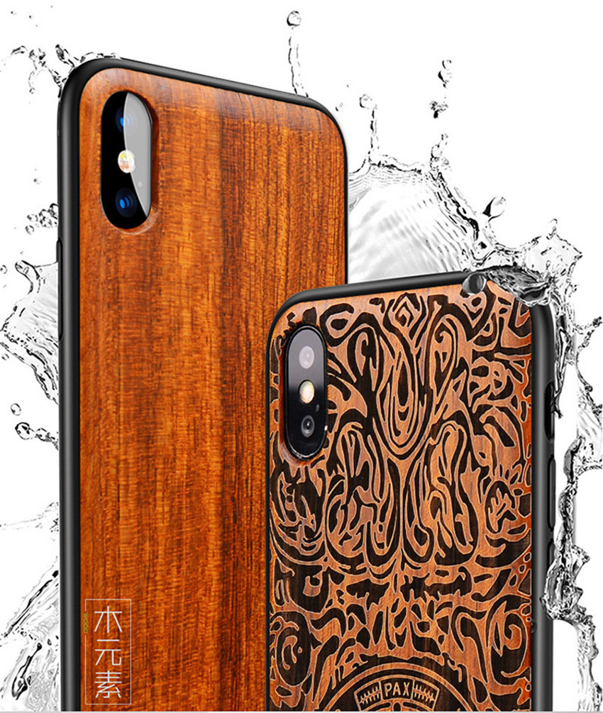 2018 New For iPhone XS Max Case Slim Wood Back Cover TPU Bumper Case For iPhone X iPhone XS Phone Cases (2)