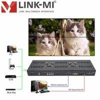 Link ми ТВ 04 H 4 К 2 K контроллера видеостены HDMI + DVI + VGA + CVBS + ТВ + USB 2x2 Разделение и Сращивание ТВ, контролирует вращение изображения