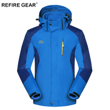 ReFire Gear Autumn Warm Windproof Waterproof Hiking Jacket Men Breathable Thermal Hooded Outdoor Jacket Winter 3 In 1 Sport Coat цена