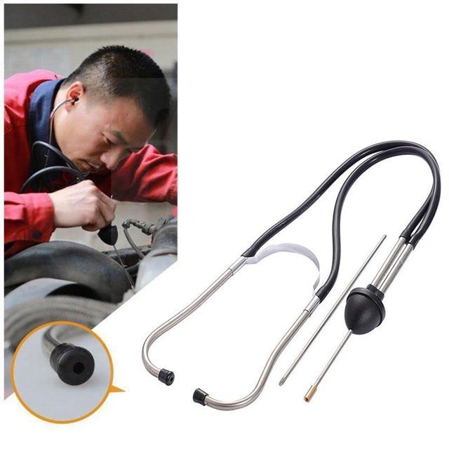 Franchise mécanique cylindre stéthoscope voiture bloc moteur Diagnostic automobile outils auditifs Anti-choc Durable chromé-acier