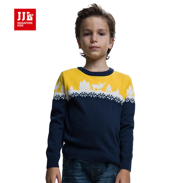 Niños suéter 2015 otoño/invierno moda niños suéter de algodón 100% algodón kids marca caliente suéter suéter a juego de la navidad