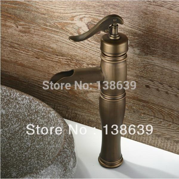 spedizione gratuita in ottone antico bagno rubinetti piattaforma ha montato in ottone in stile classico