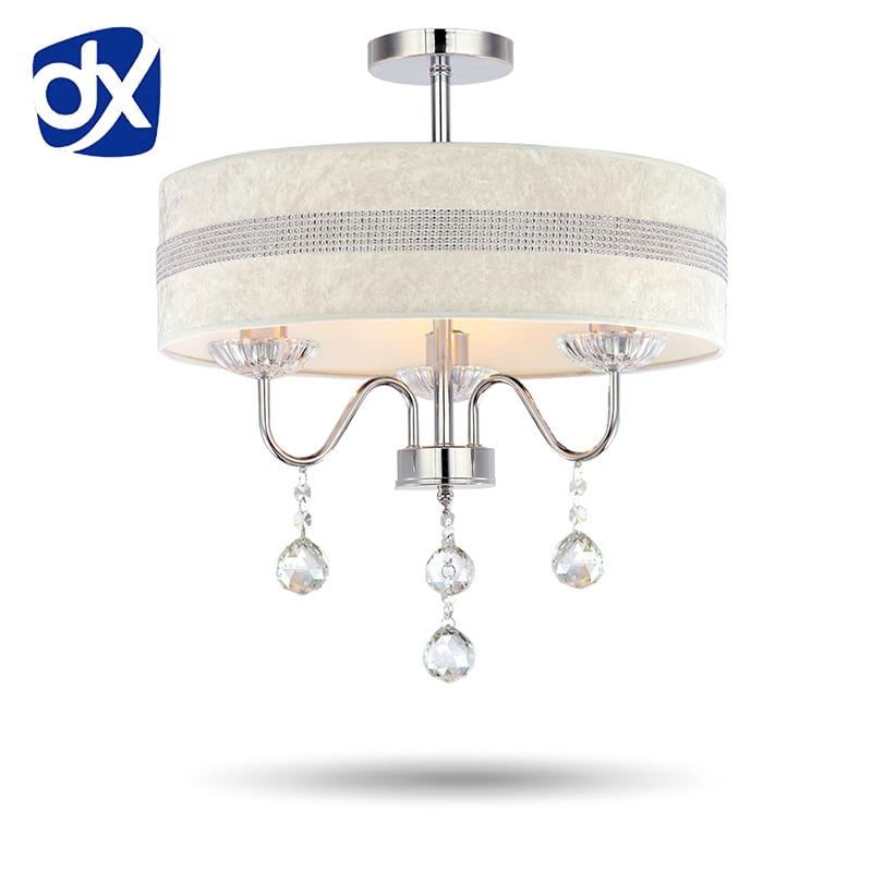 Fabric Shade Modern LED Crystal Chandelier Diameter 40cm/50cm Optional Rose/Diamond Pattern Optional Free Shipping towards optional celibacy