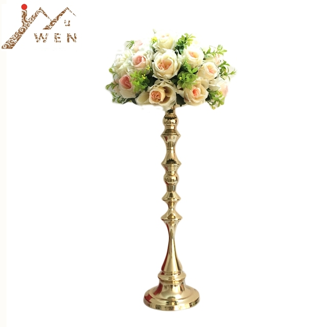 2d7e5bcfd43c 53 cm Tall Gold Candle Holder Candle Stand Wedding Table Centerpiece Event  Road Lead Flower Rack