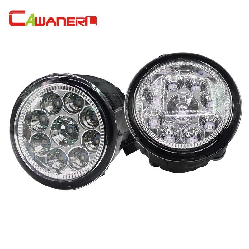 Cawanerl 2 x Car H8 H11 LED Light Fog Light Lamp DRL Daytime Running Light 12V White Orange Blue For Nissan X-Trail Versa Juke