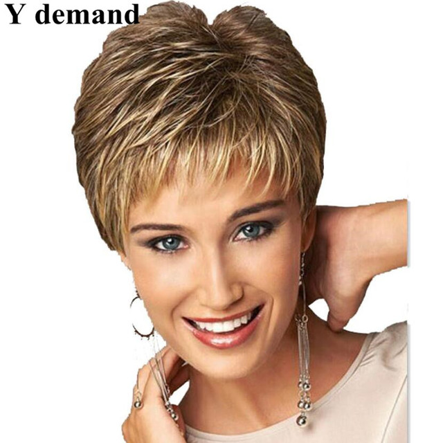 New Coming 2017 Highlights Blonde Short Female Haircut Puffy