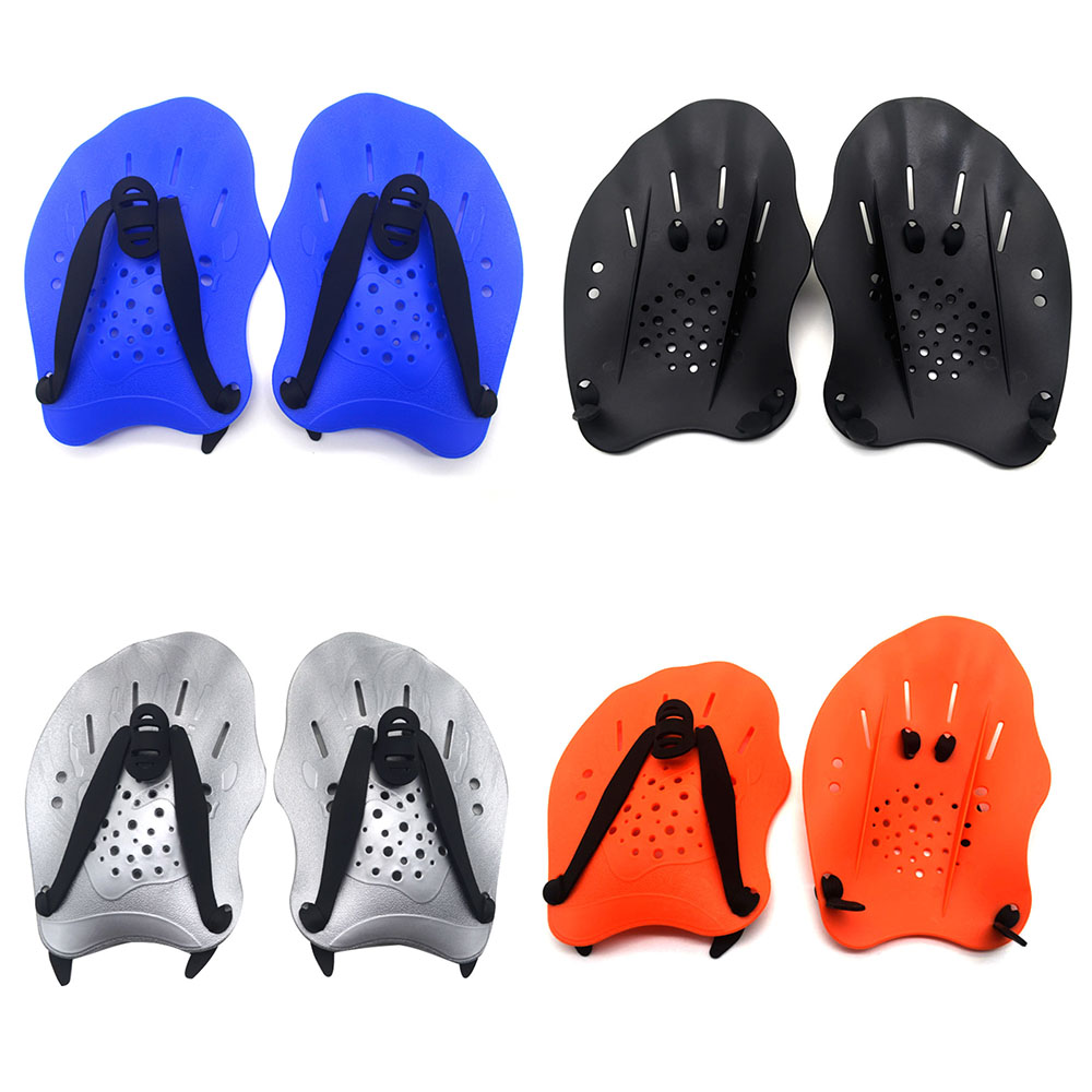 1 Pair Swimming Paddles Training Adjustable Hand Webbed Gloves Padel Fins Flippers For Adult Men Women Kids Learn Gear