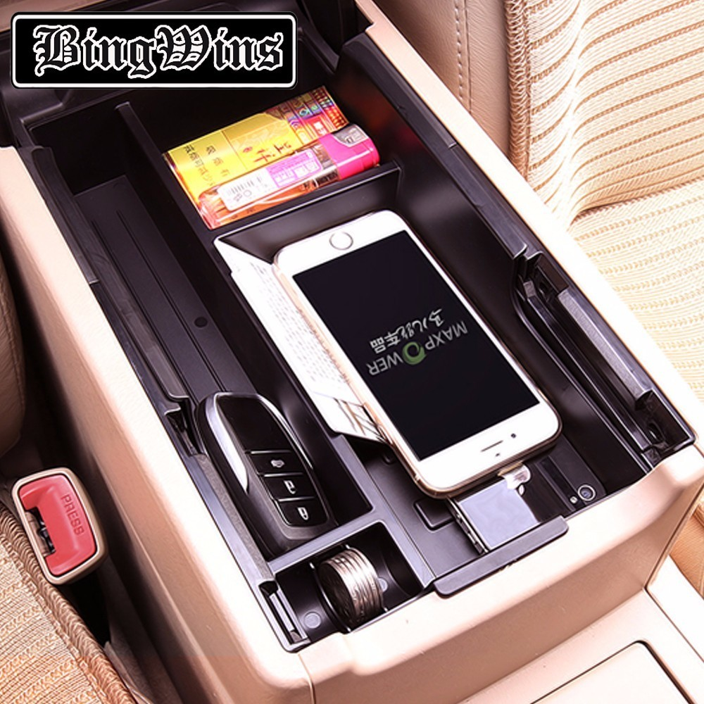 BING WINS Central Storage Pallet Armrest Container Box For Toyota Camry 2012 2013 2014 2015 2016 2017 for land rover evoque 2009 2013 central storage pallet inside armrest organizer container box