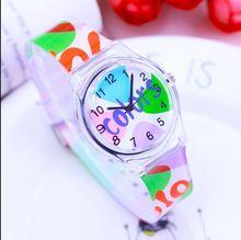 Новая мода Простой кролика для мальчиков и девочек спортивные часы Водонепроницаемый силиконовые студенты часы водонепроницаемые Дети Кварцевые часы