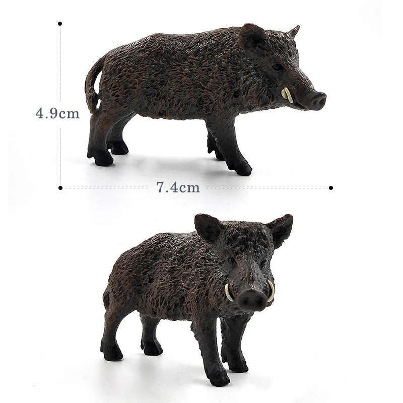 Сельскохозяйственная модель животного, свинья кабана, фигурки, пластиковая игрушка для украшения, обучающая игрушка, лучший рождественский подарок для детей