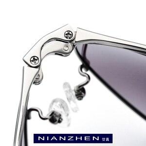 Image 2 - Pure Titanium Sunglasses Men Folding Aviation Polarized Sunglass 2019 Hot Brand Designer Aviador Sun Glasses for Men Shades 1190