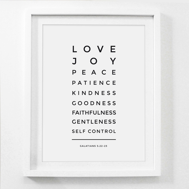 Love Patient Kind Prints Poster Home Living Room Bible Verse Wall Art Canvas Painting Christian Print