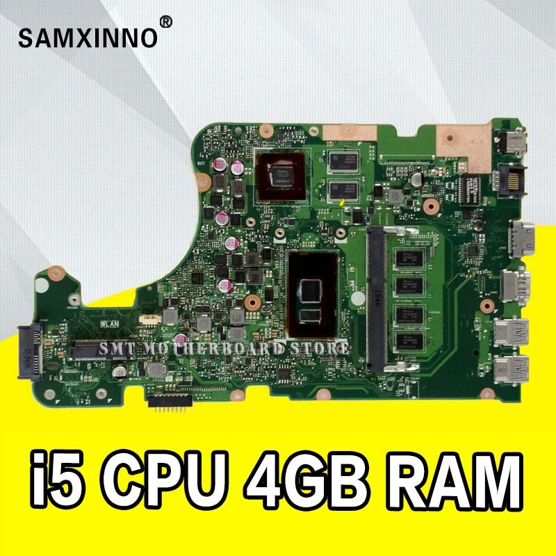 X555UJ Scheda Madre 4 gb I5 CPU Per ASUS X555UF F555U X555UB X555UQ X555U Scheda Madre del computer portatile X555UJ Mainboard X555UJ Scheda Madre