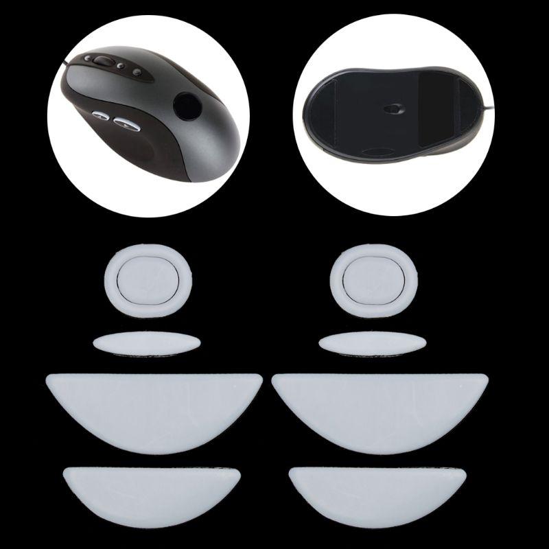 2 Sets/pack Gaming Mouse Feet Mouse Skate For Logitech MX518 /G400 /G400S White Teflon Mouse Glides Curve Edge C26