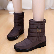 Women Boots 2019 Winter Women Casual Snow Boots Wedges Ankle Boots Waterproof Ladies Fur Boots Botas Mujer Platform Shoes Woman цены онлайн