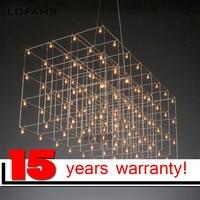 LOFAHS Modern LED Chandelier Luxury Large Combination Cube For Living Room Led Lamp Hanging Lighting Fixtures