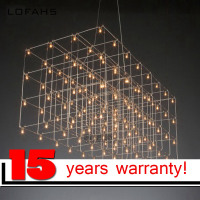 LOFAHS Modern LED Chandelier Luxury Large Combination Cube For Living Room Led Lamp Hanging Lighting Fixtures