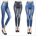 New 2015 fashion Sexy Women's Leggings Jeggings Fashion blue and black casual Denim jeans legging Stretchy Pants free shipping