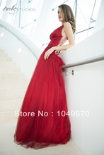 Sexy V-ausschnitt Sheer Open Back Mit Kristall Bodenlangen A-linie Brautkleider vestidos formales Tüll Abendkleid Für Partei N140