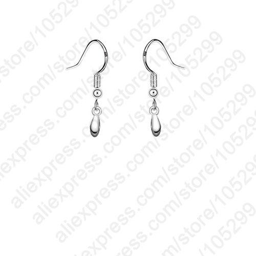 JEXXI Wholesale 925 Jewellery Findings Real Pure 925 Sterling Silver Jewelry Pinch Ear Wire French Hooks Components For Earrings