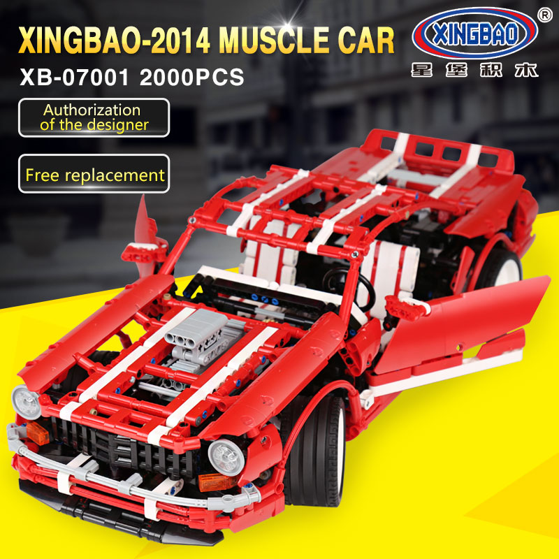 XingBao 07001 Creative MOC Series The 2014 Muscle Car Set children Educational Building Blocks Bricks legoingly Toys Model Gifts xingbao 01001 creative chinese style the chinese silk and satin store 2787pcs set educational building blocks bricks toys model