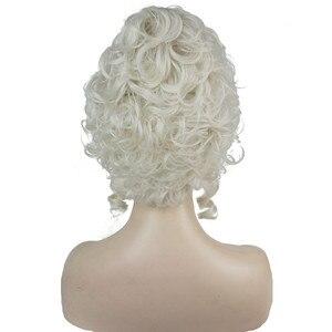 Image 3 - Strong beauty perruque pour Cosplay, perruque de princesse Marie Antoinette, cheveux mi bouclés
