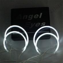 4 шт. НОВЫЙ белый яркий Комплект CCFL Angel Eyes Halo Кольца Фар 6000 К ксеноновые белый без ксенона проектор CCFL Angel Eyes Для BMW E46