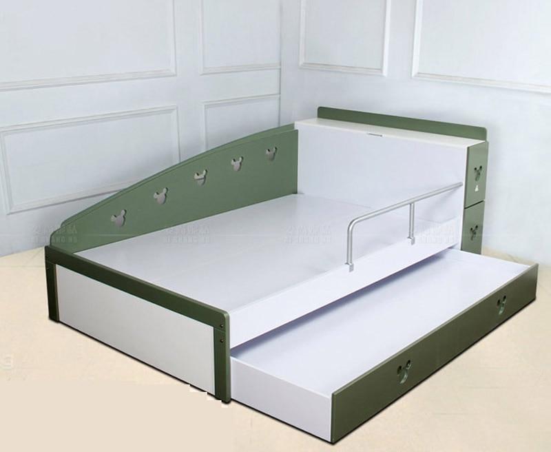 Moderna cama infantil combinación de nido litera superior e inferior ...