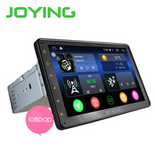 "Joying Latest 8 "" inch Single 1 din Universal Touch screen car radio player Android 5.1 car audio stereo HD GPS Navigation"