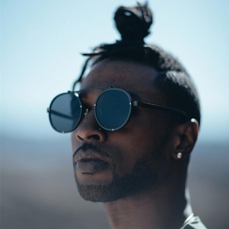 Luxe Gothique Steampunk lunettes de Soleil Hommes Unisexe Vintage Rétro  Ronde Lunettes De Soleil Homme Lunettes de Soleil Pour Hommes Femmes  Lunettes Oculos ... 631a1ee7f1e0