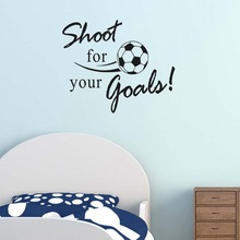 Football Wall Stickers For Kids Rooms Shoot Your Goals Quotes Room Decoration DIY Home Decor Living