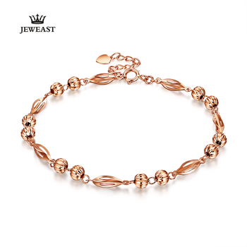 18K Pure Gold Bracelet Real AU 750 Solid Gold Bangle Good Beautiful Upscale Trendy Classic Party Fine Jewelry Hot Sell New 2020 1