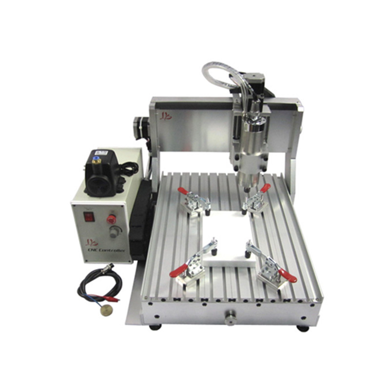 0.8KW 3axis cnc milling machine 3040 4axis cnc 4030 wood router machine with 800W VFD water cooling spindle 110v 220v 4 axis 800w usb cnc 3040 water tank cnc router cnc machine milling machine