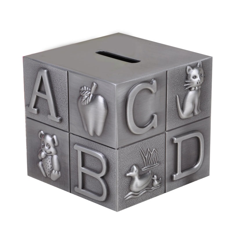 Russian cube metal money box coin bank storage box cash box for money safe cash box CXG021