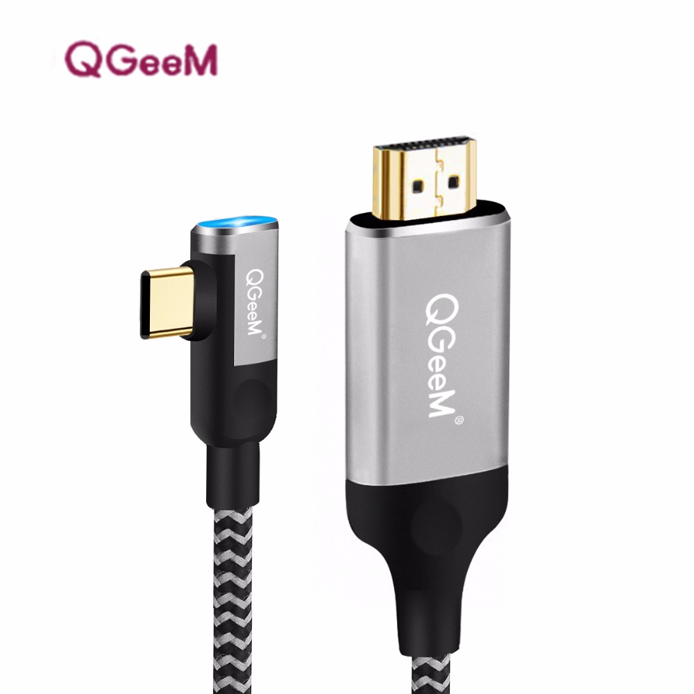 USB C a HDMI cable adaptador 4 K 1080 P 60Hz USB tipo C a HDMI 2.0 cable thunderbolt 3 cable para MacBook Huawei Mate10 sumsang S8
