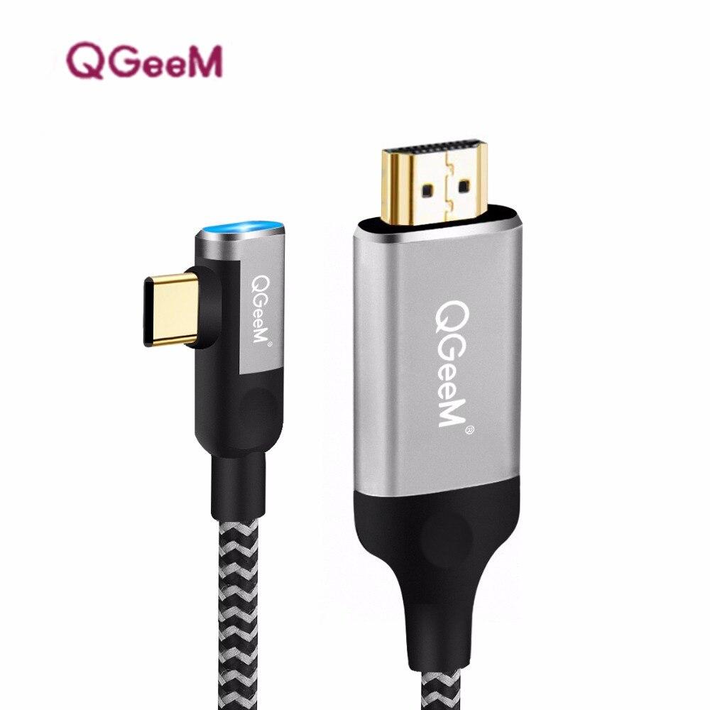 Usb c zu hdmi kabel adapter 4 karat 1080 p 60 hz usb typ c zu hdmi 2,0 kabel Thunderbolt 3 kabel für Macbook Huawei Mate10 Sumsang S8